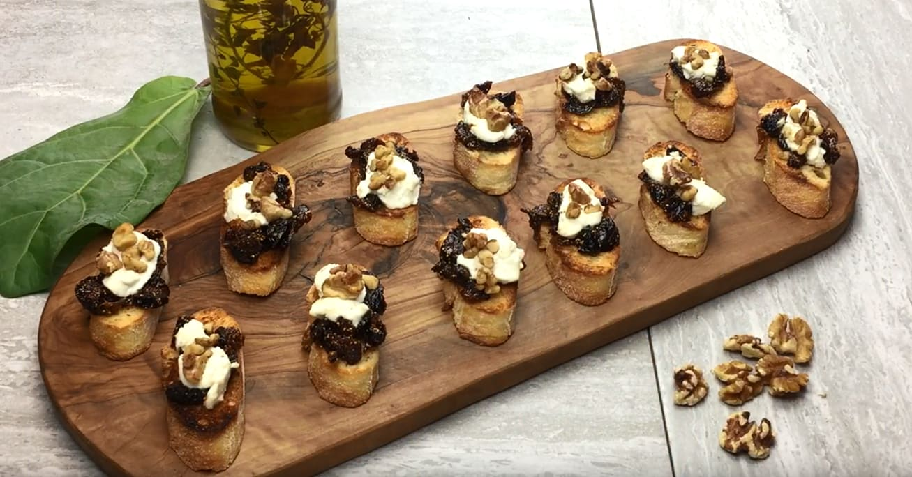 Goat Cheese and Fig Bruschetta