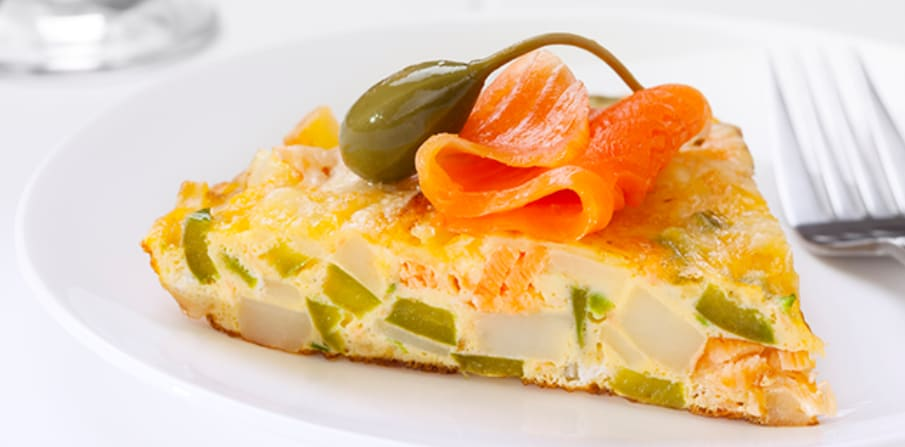 photo for RECIPE: Bagel, cream cheese and smoked salmon frittata article