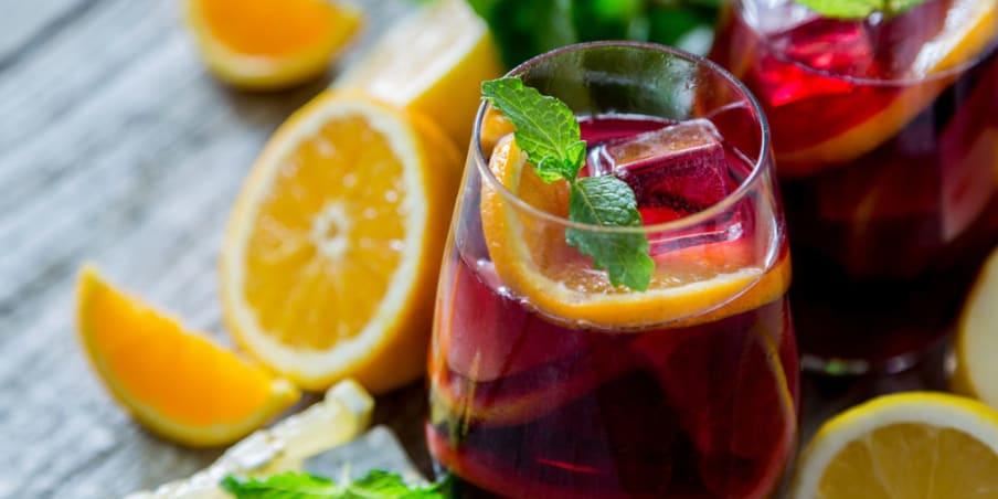 Citrus sangria beverage