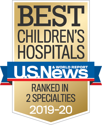 Us News best Children's Hospitals Ranked in Two Specialties 2019-2020
