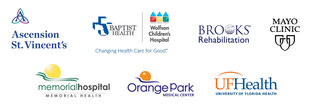 Logos for cooperating hospitals