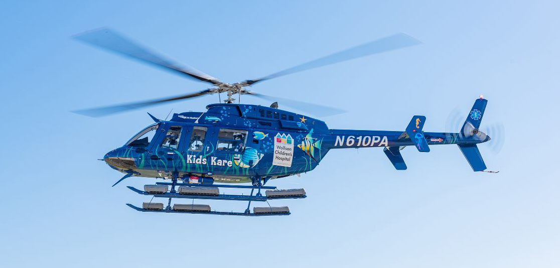 Wolfson Children's Hospital Kids Kare Helicopter