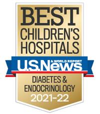 Us News best Children's Hospitals Ranked in Diabetes & Endocrinology 2021-2022