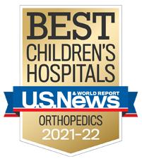 Us News best Children's Hospitals Ranked in Orthopedics 2021-2022