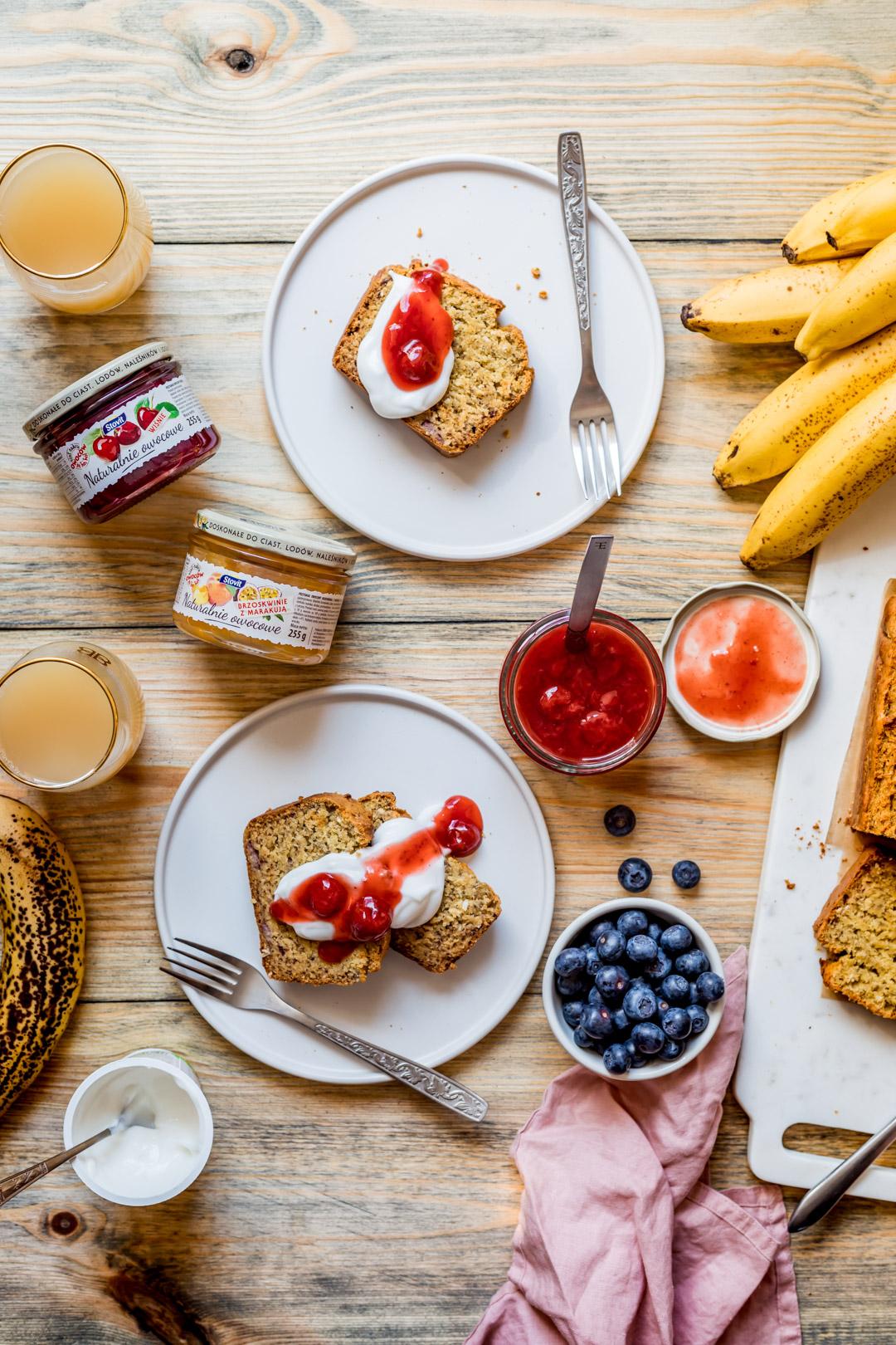 Wegański chlebek bananowy bez glutenu i bez cukru