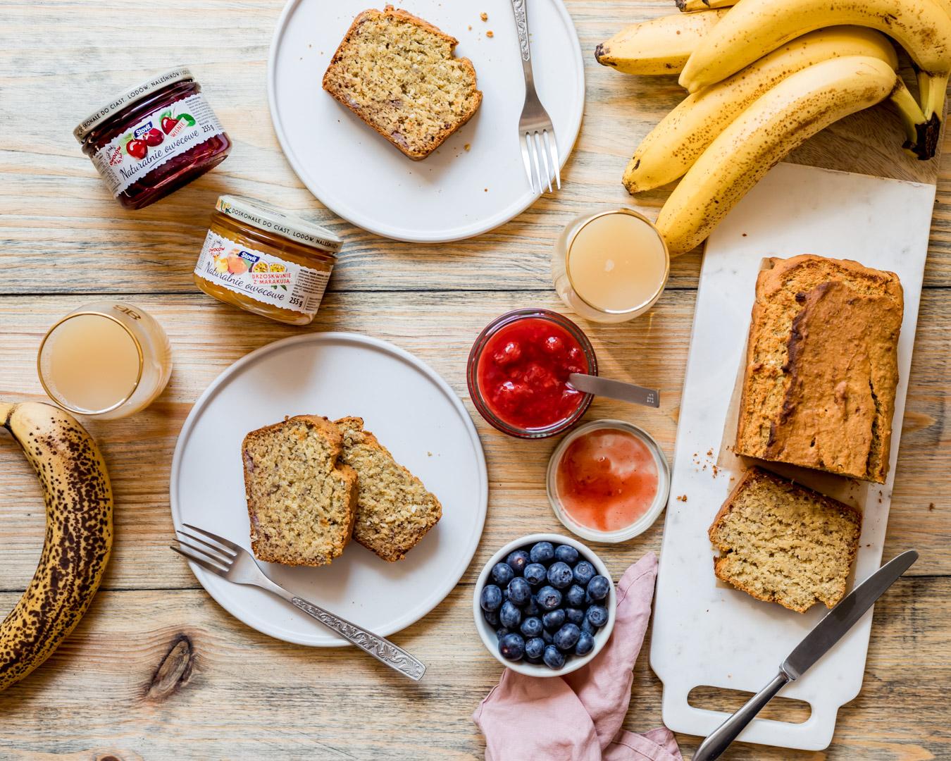 Chlebek bananowo-kukurydziany bez glutenu i bez cukru