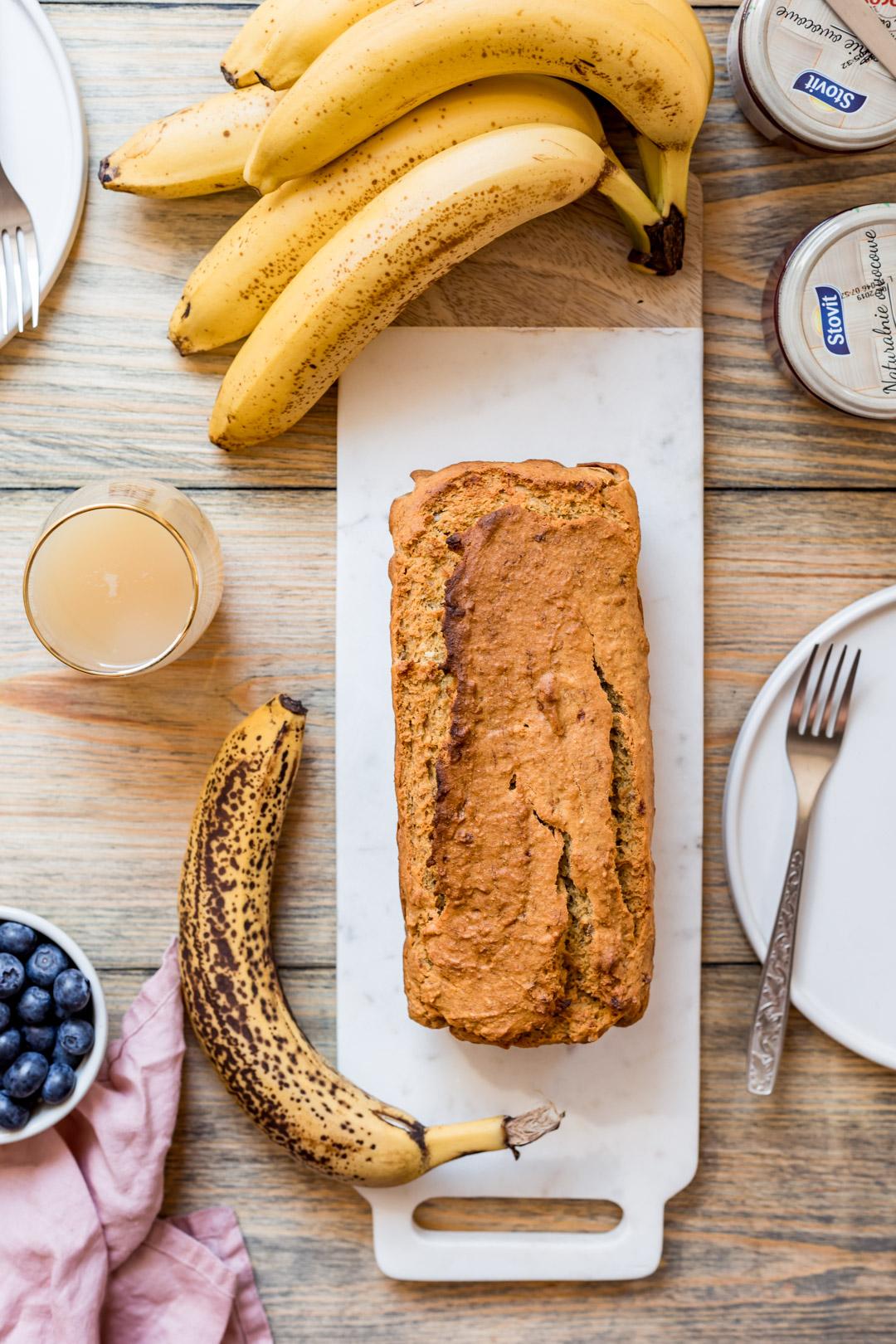Wegański chlebek bananowo-kukurydziany bez glutenu