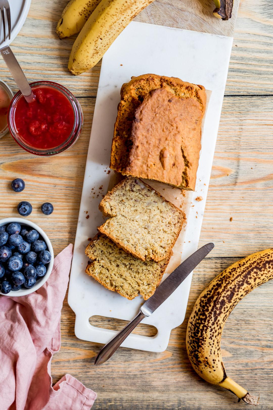 gluten-free sugar-free banana corn bread