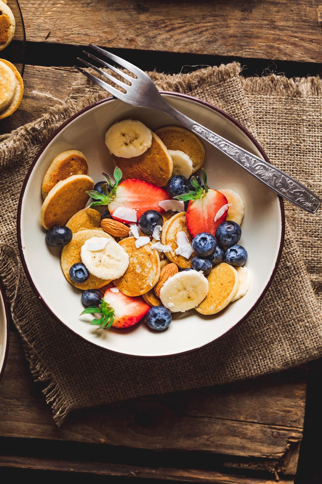 Bananowe naleśniki wegańskie, bez glutenu