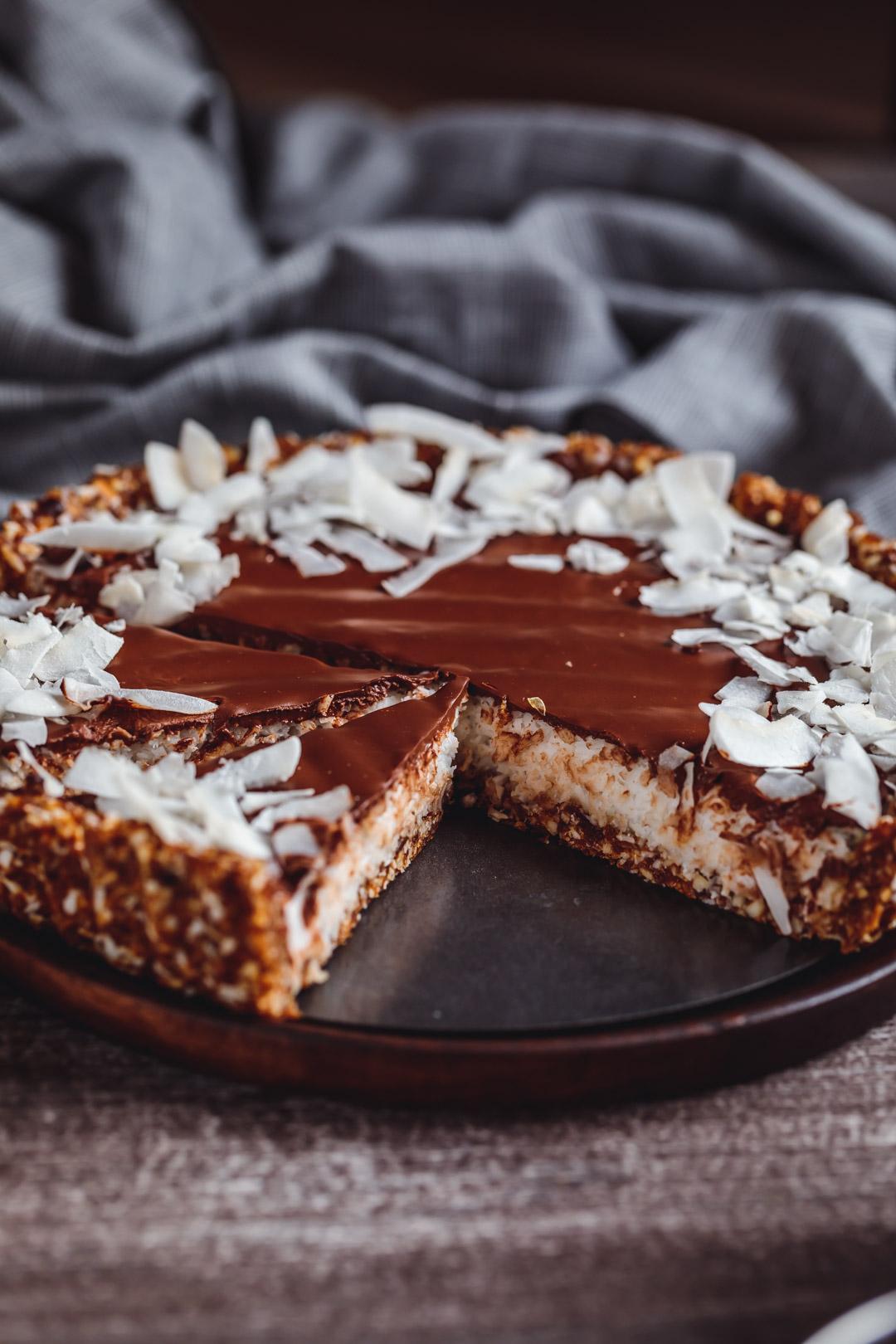 Tarta kokosowo-czekoladowa  à la Bounty wegańska