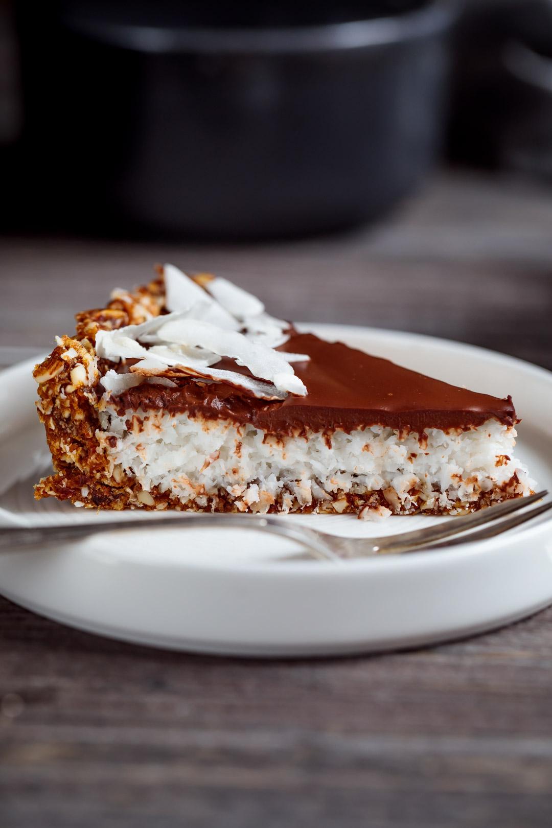 Tarta kokosowo-czekoladowa  wegańska