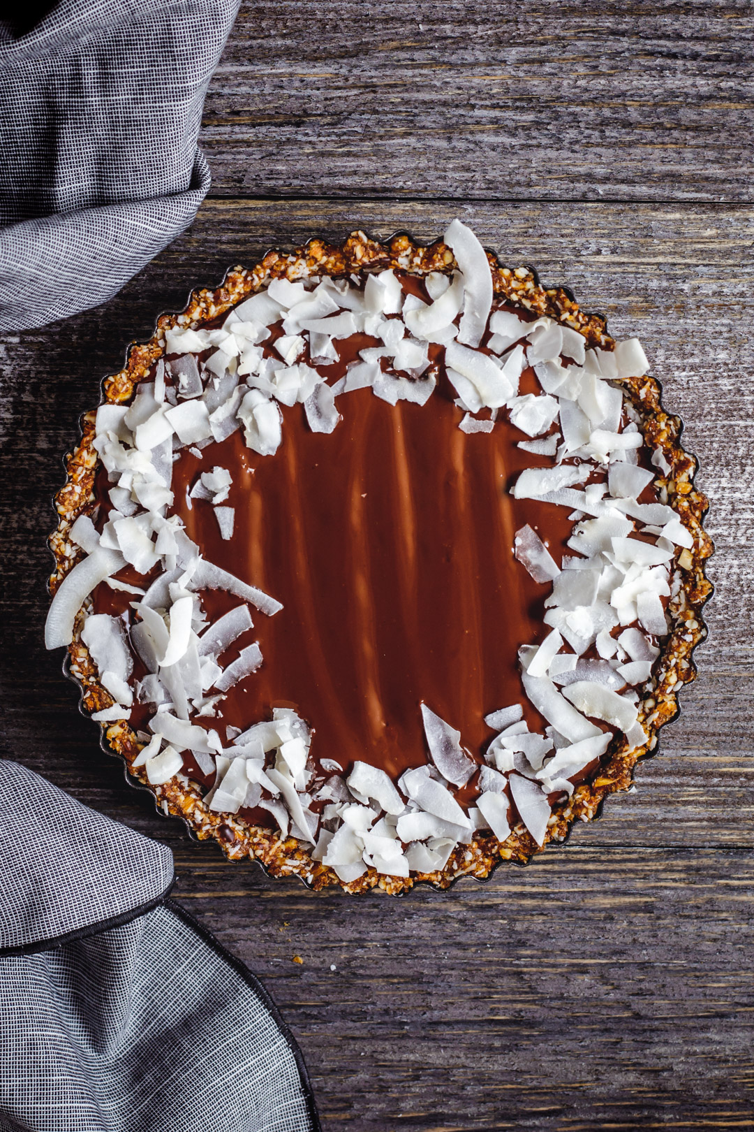 Chocolate Coconut Tart à la Bounty