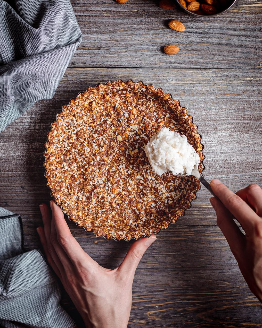 Tarta kokosowo-czekoladowa  à la Bounty, bez pieczenia, bez glutenu