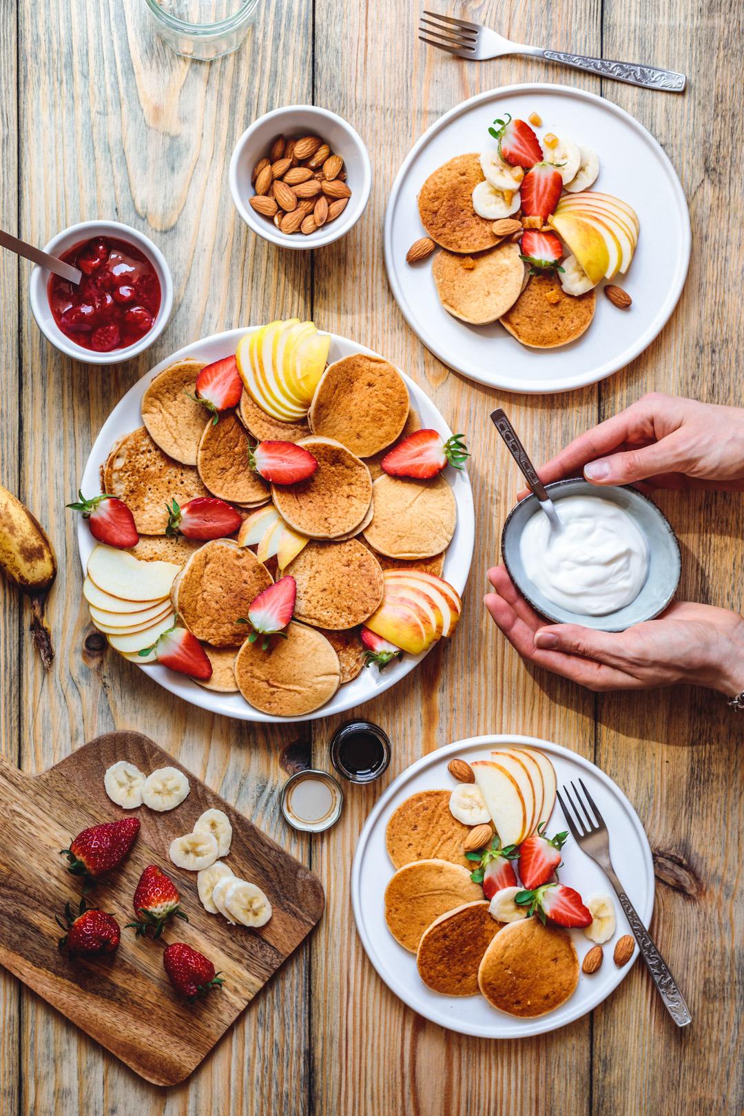 Vegan Banana Pancakes Sugar-free