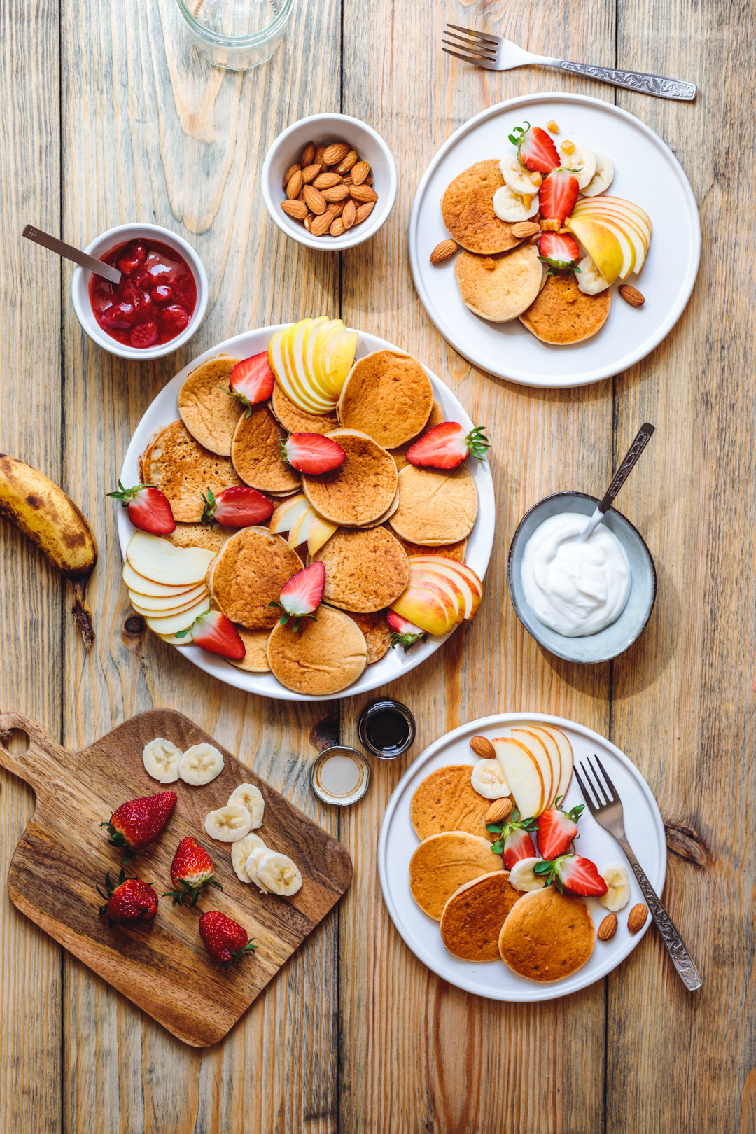 Proste bananowe naleśniki wegańskie, bez glutenu