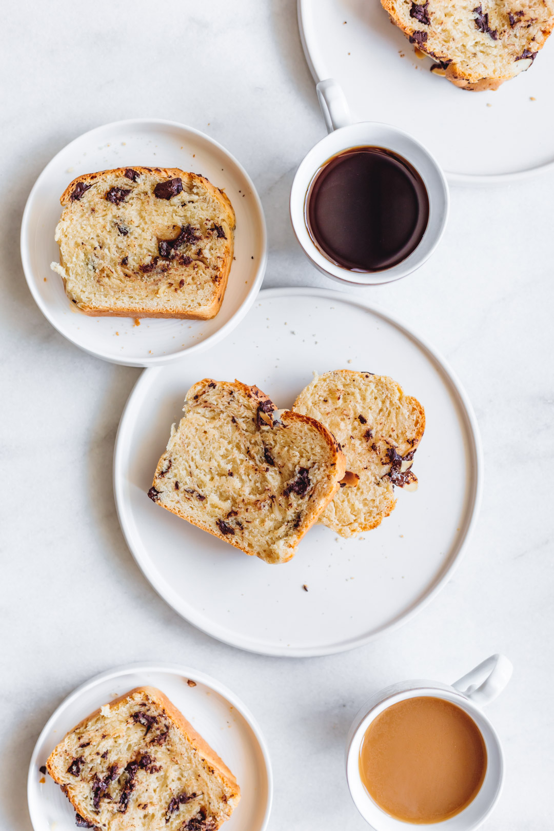 Chocolate Babka with Almond Flakes