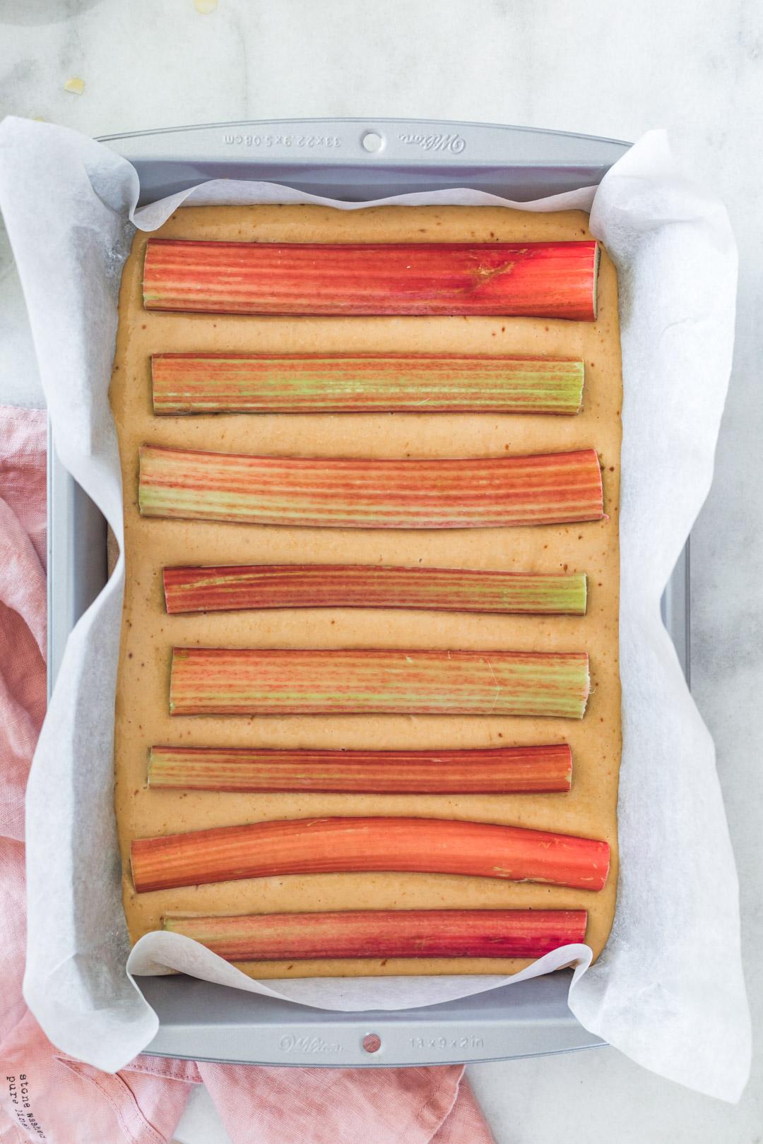 Vegan Rhubarb Cake
