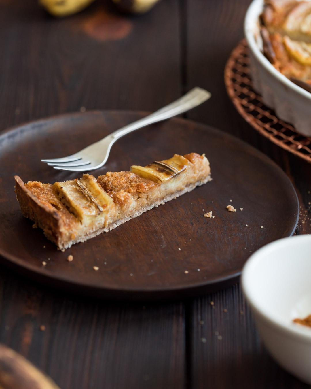 Vegan Gluten-free Banana Tart