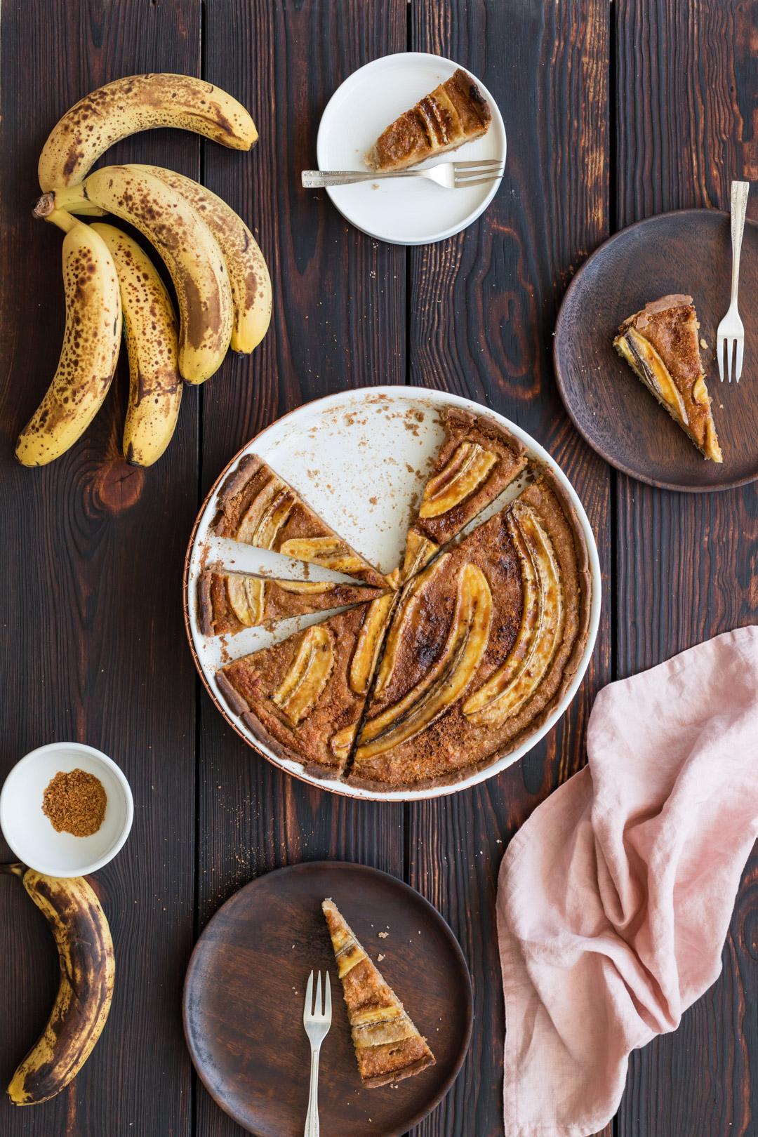 Vegan Banana Frangipane Tart
