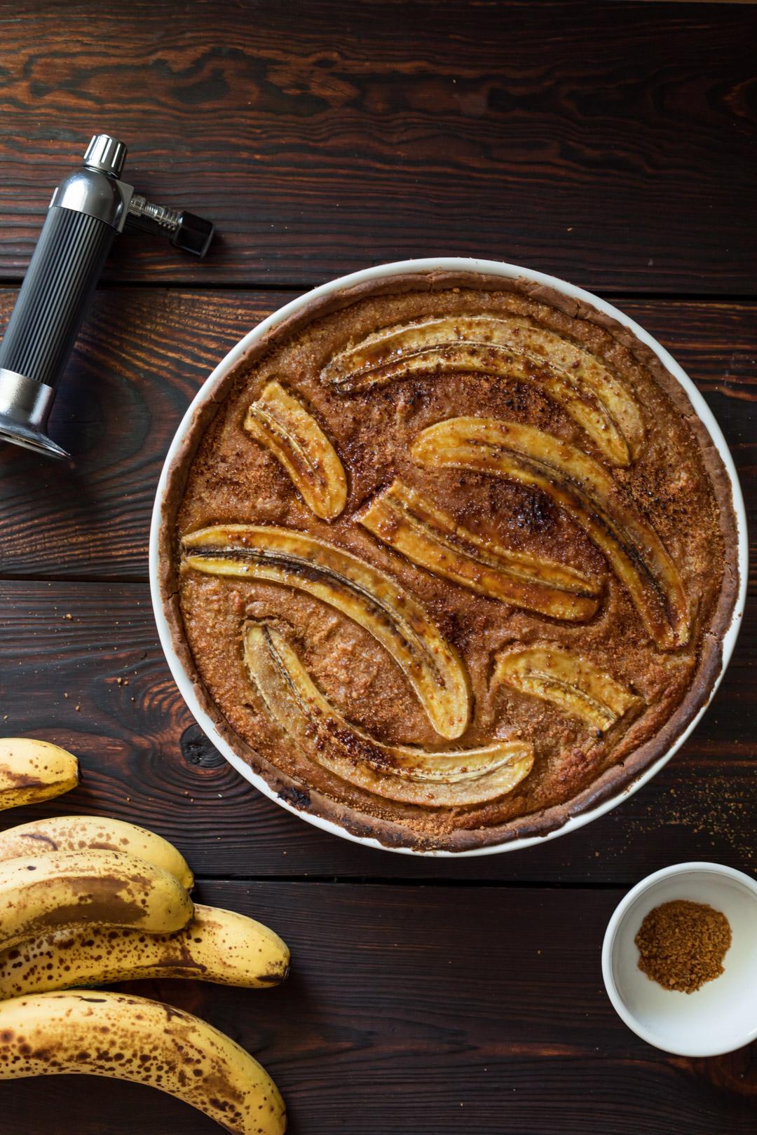 Vegan Gluten-free Caramelized Banana Almond Tart