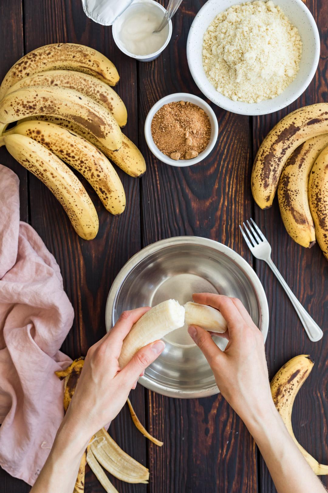 Wegańska bezglutenowa tarta z bananami