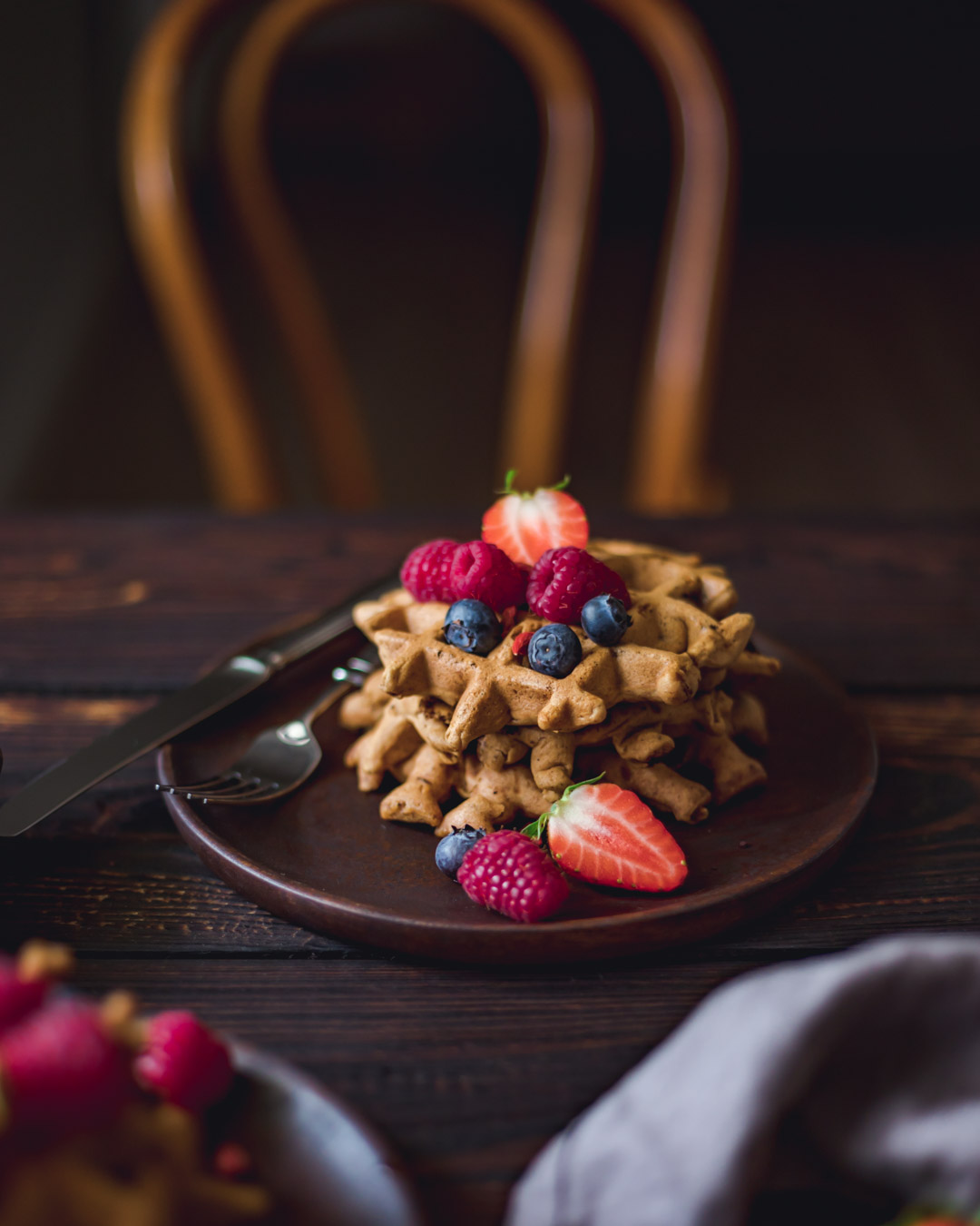 Gluten-free Chocolate Chips Waffles