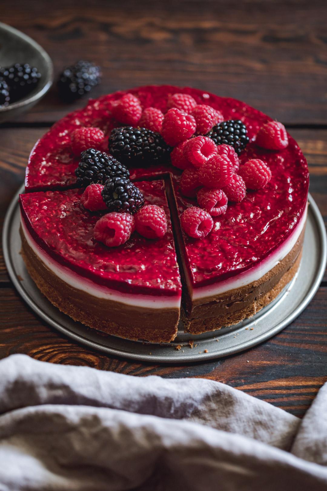 Gluten-free Chocolate Raspberry Cake