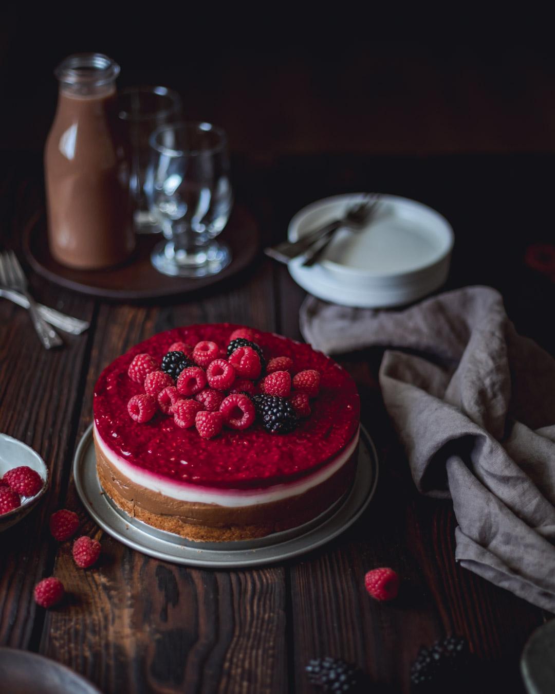 Gluten-free Chocolate Coconut Raspberry Cake