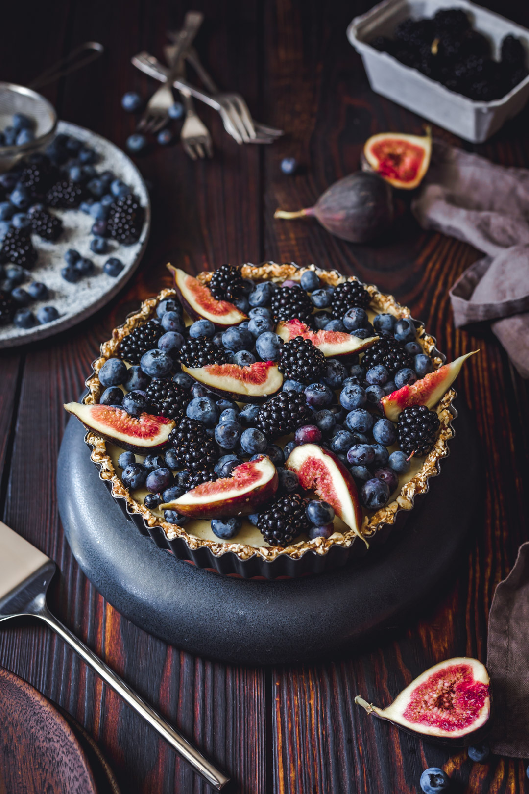 Vegan Tart With Figs
