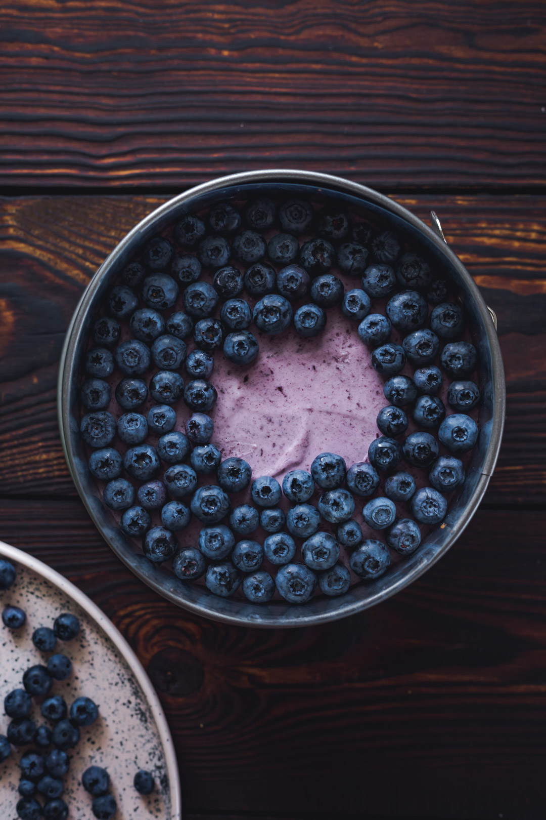gluten-free Blueberry Mousse Cake