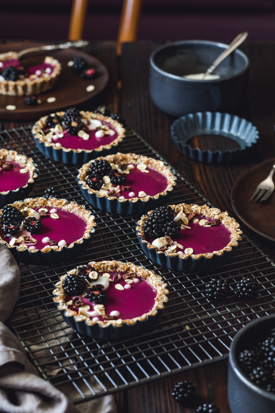 no-bake Blackberry Yogurt Tartlets