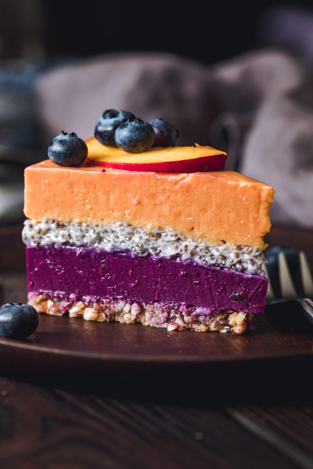 Ciasto brzoskwiniowo- borówkowe