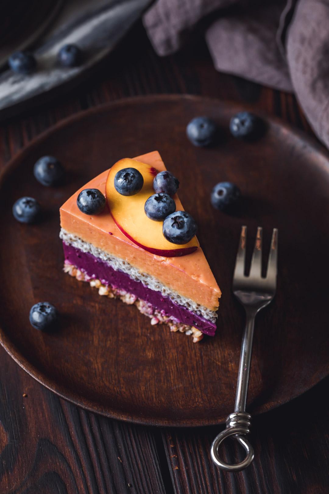 jogurtowiec brzoskwiniowo – borówkowe z nasionami chia