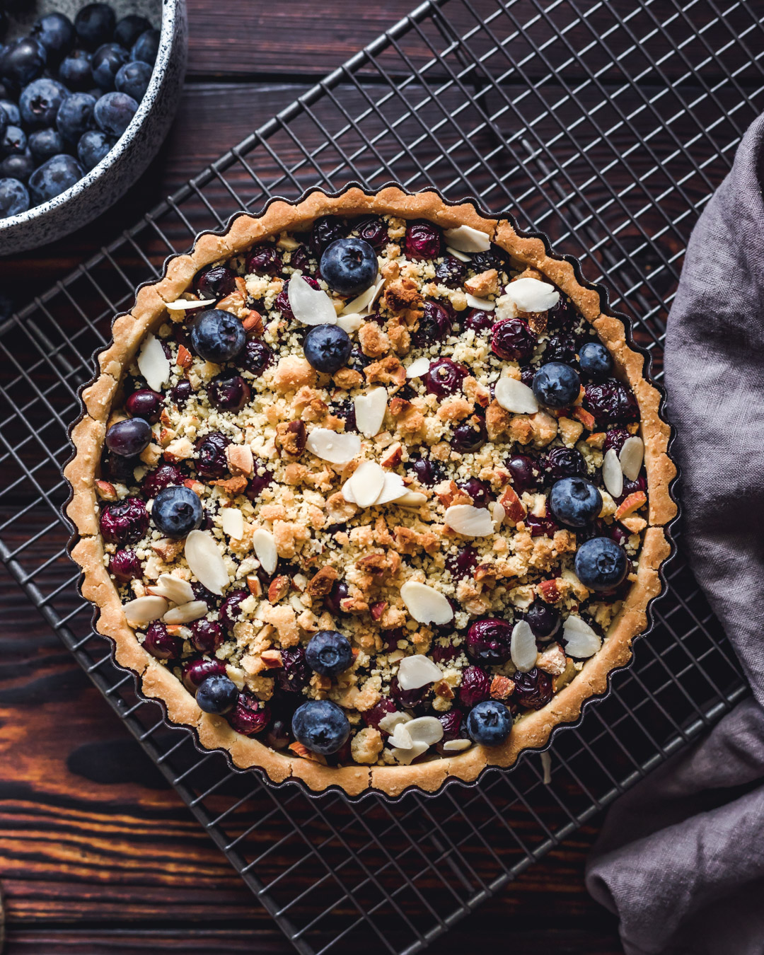Vegan Blueberry Tart