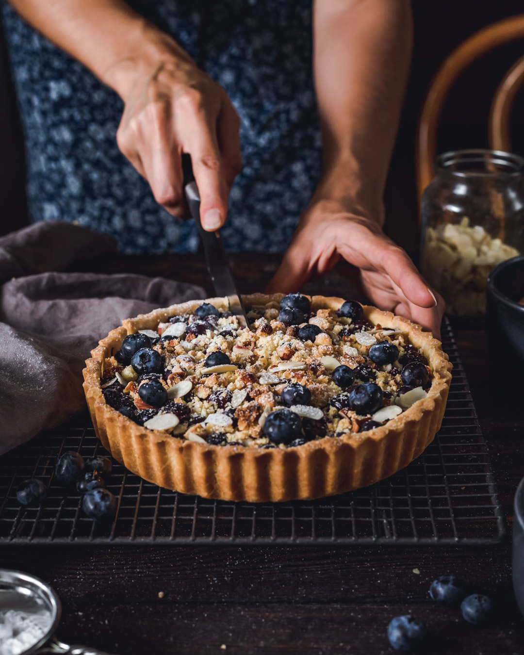 Vegan Tart with Crumble
