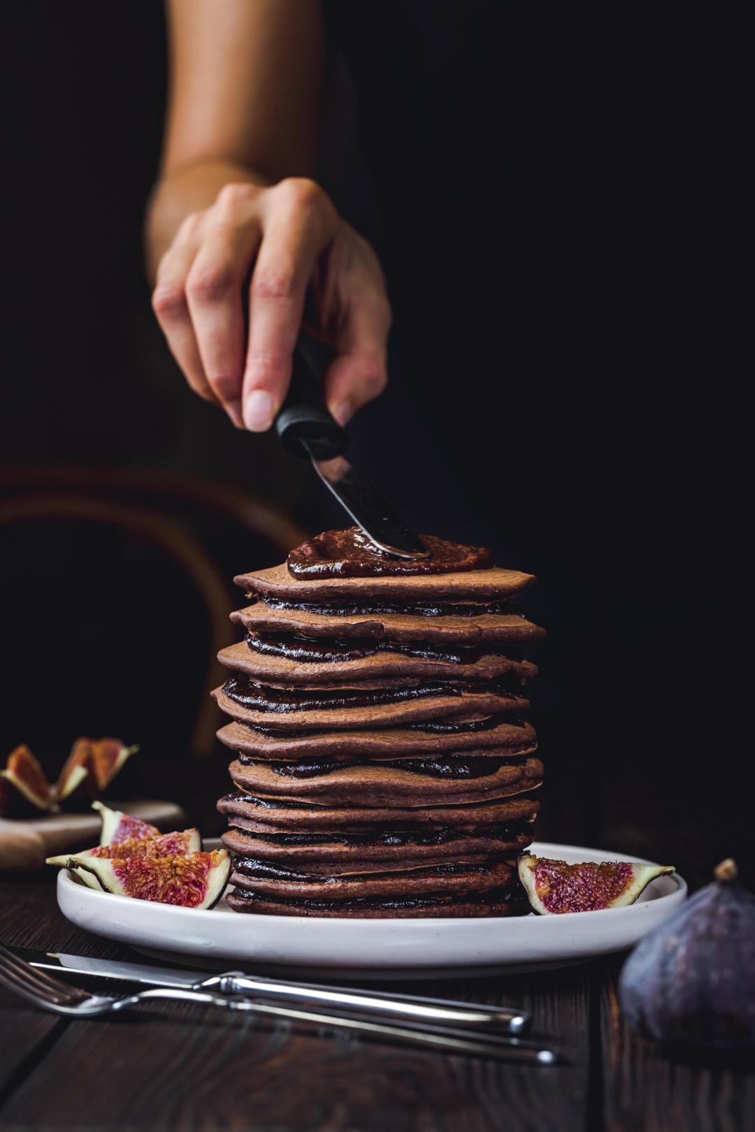Vegan Gluten-free Chocolate Pancakes