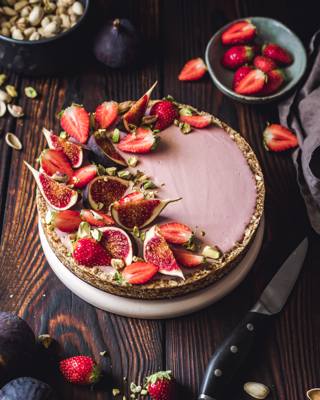 Vegan Tart with pistachios