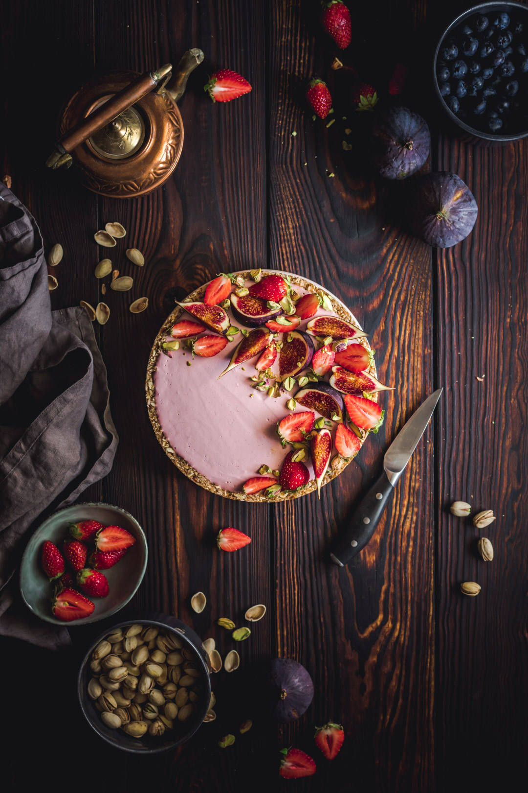 Vegan Strawberry Tart With Figs