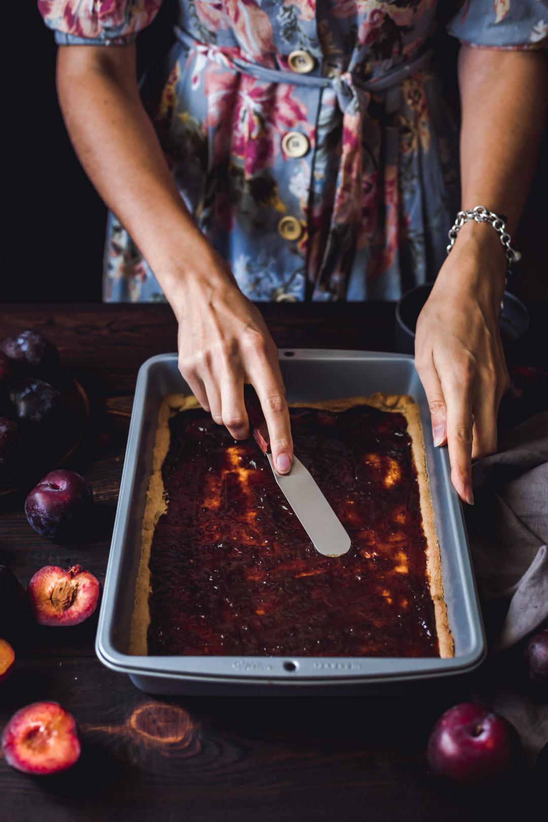 Vegan Gluten-free Plum Pie