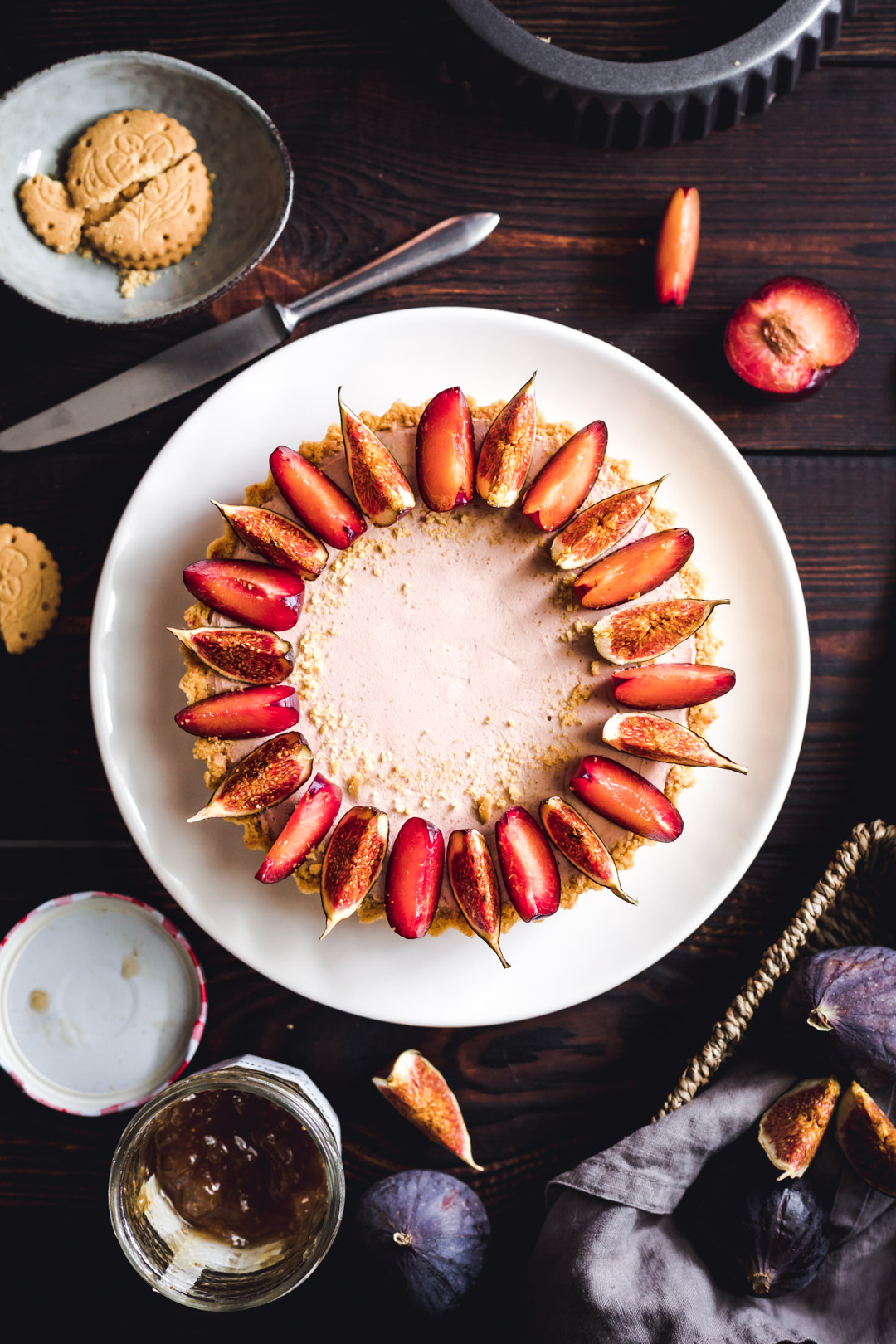 Vegan Creamy Tart with Fig