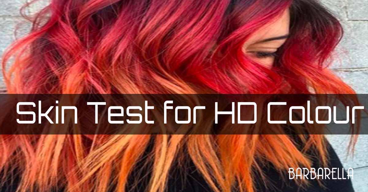 skin test hair colour