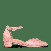 Rhea Pink Croc Leather