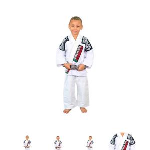 Kimono de alta performance, fabricado em tecido trançado tradicional e calça de brim 100% algodão Tamanho (M00 a M3). #Kimono