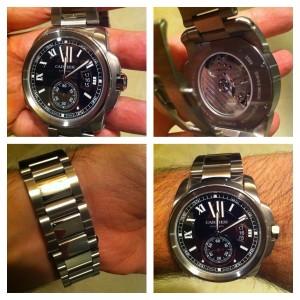 #Relógio #Cartier #Calibre todo em #Aço #Automático comprado em Set/2012