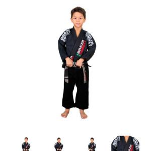 Gola grossa, com EVA (borracha) anti-bactericida, evita que o kimono seque e a gola continue molhada. (AZUL ou PRETO)  (M00 a M3). #Kimono
