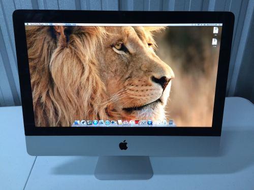 iMac tela 21.5 processador i5, RAM 4gb.  NÃO CONTÉM MOUSE, TECLADO, HD.  CONTEM NOTA FISCAL.