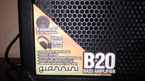 Amplificador para Baixo Gianini B20 #AmplificadorBaixo