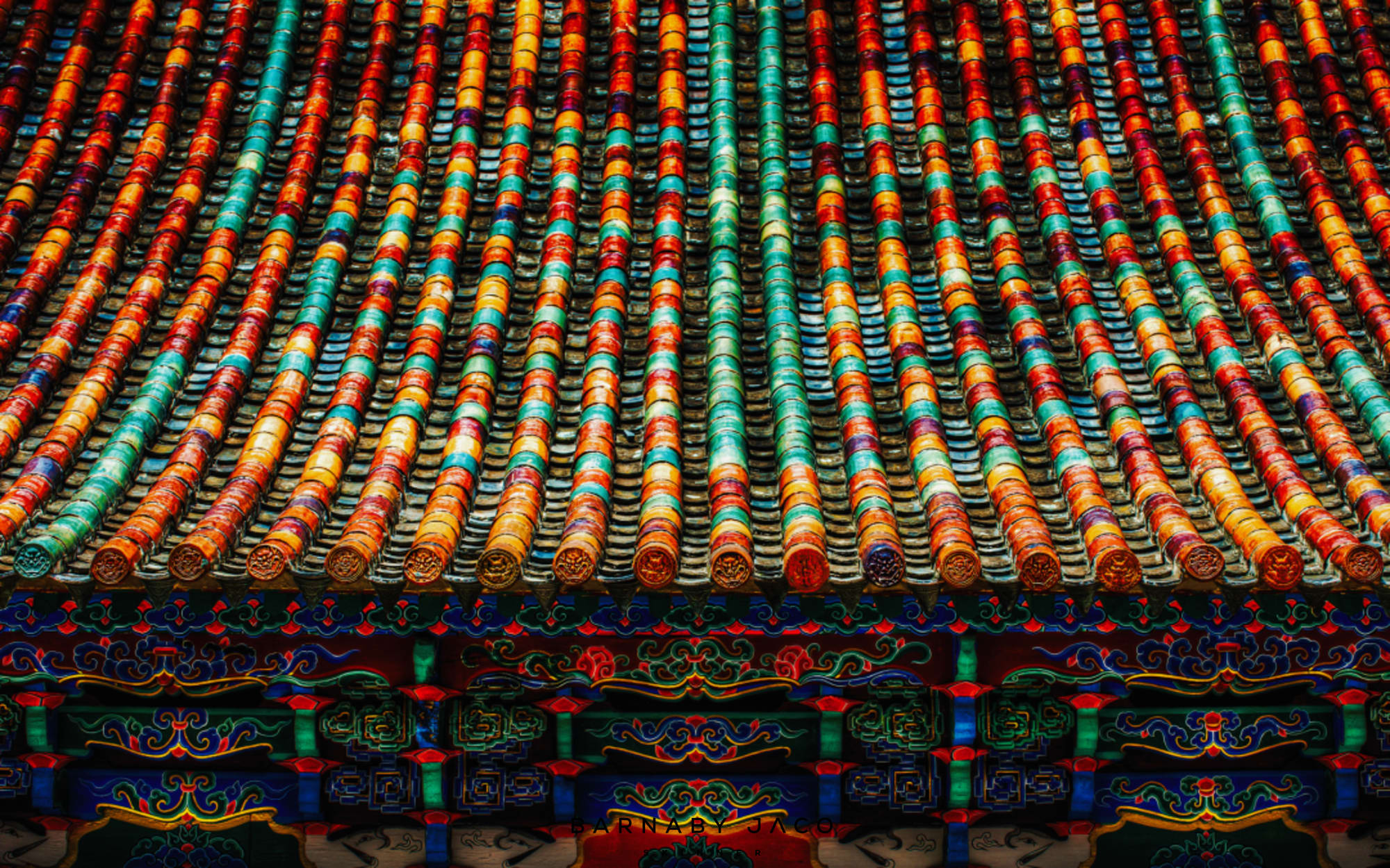 Yunnan - A Tiled Roof by Barnaby Jaco Skinner