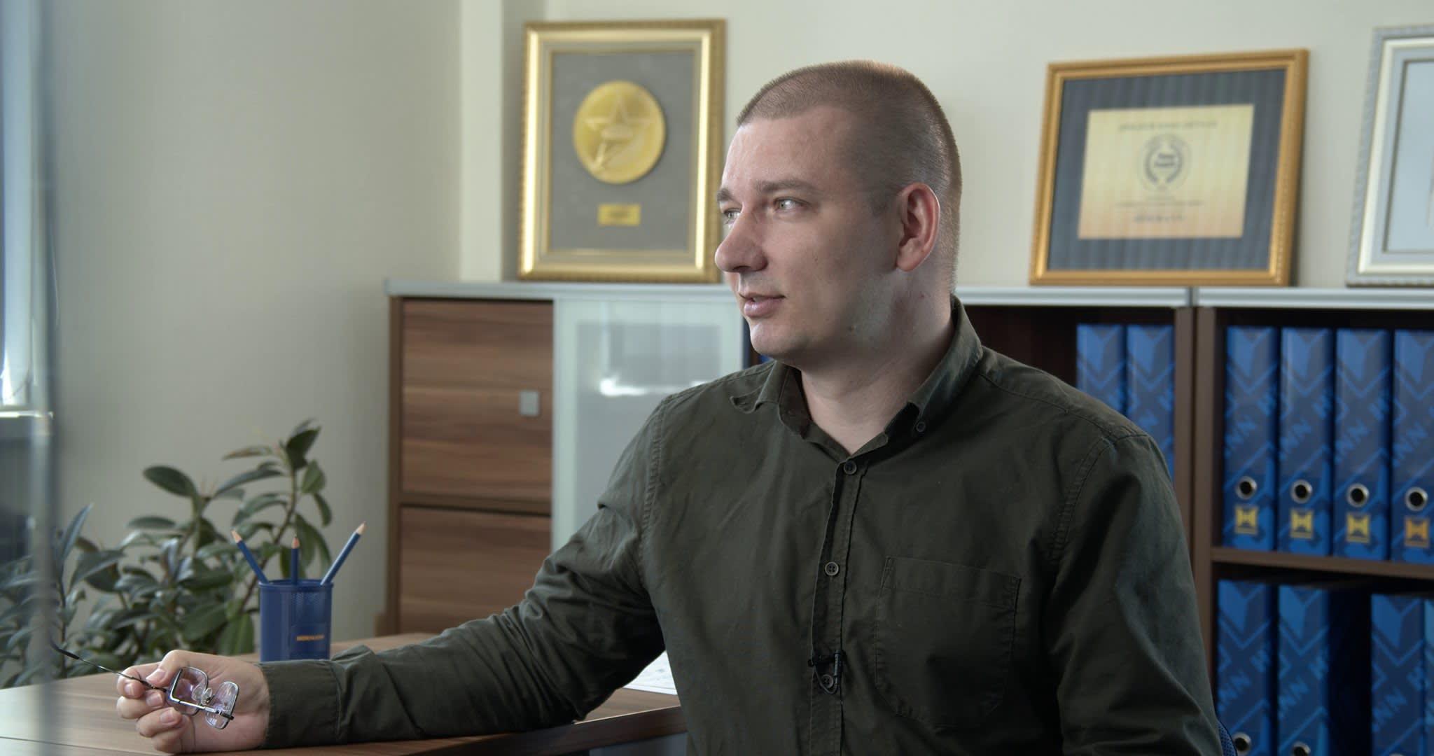 Дмитрий Бартошевич на встрече с клиентом