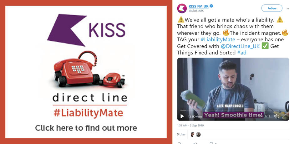 Direct Line and KISS campaign